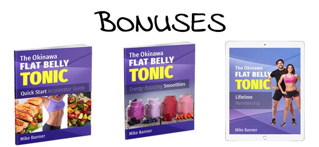 Okinawa Flat Belly Tonic bonuses