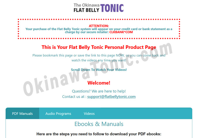 Okinawa Flat Belly Tonic download page